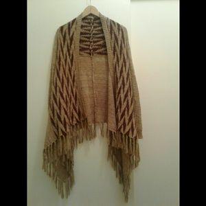 Sweaters - Drape Fringed Cardigan